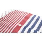 Saint Tropez strandtörölköző - tengerészkék piros