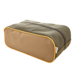 khaki-drapp-sáfrány cipőtartó táska