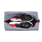 sötétszürke-bordó cipőtartó táska