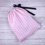 brightme rózsaszín-fehér csíkos fehérnemű zsák