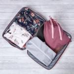 mályva fehérnemű zsák utazáshoz