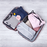 brightme rózsaszín-fehér csíkos fehérnemű zsák utazáshozport.hu