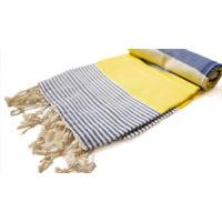Amalfi strandtörölköző - tegnerészkék sárga