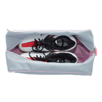 világosszürke-rózsaszín cipőtartó táska