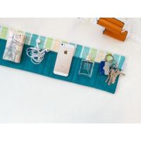 Textil táskarendező - BLUE CHEVRON
