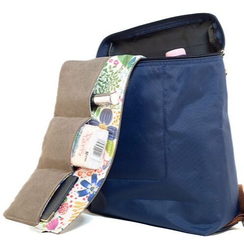 Brown floral táskarendező