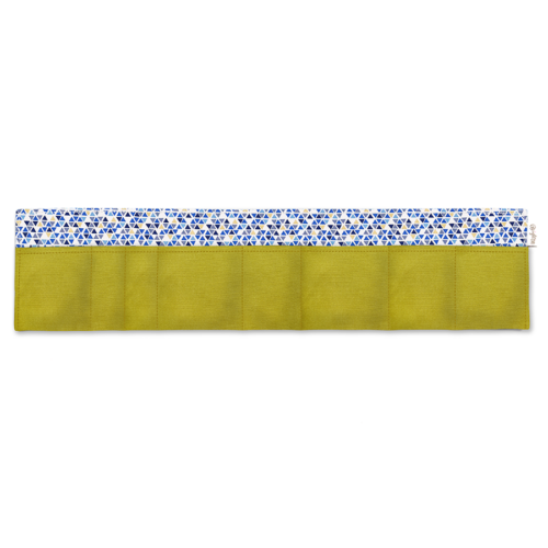 BrightMe egyedi táskarendező lime-kék és arany háromszögek