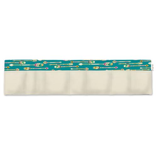 BrightMe egyedi táskarendező törtfehér-türkiz arany nyilak
