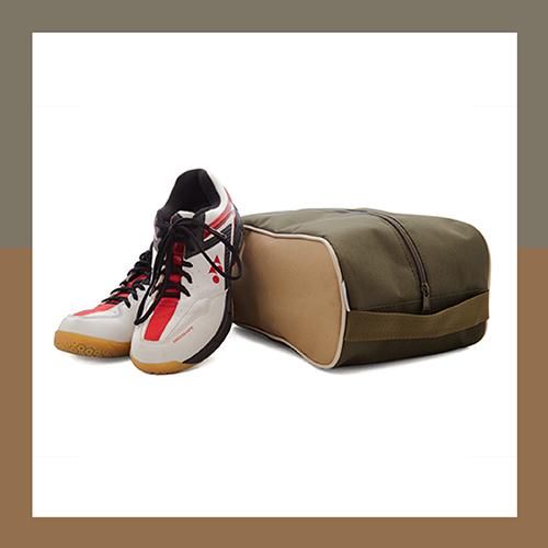 khaki-drapp-bézs cipőtartó táska
