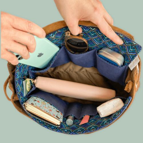 BrightMe Textil táskarendező - PEACOCK