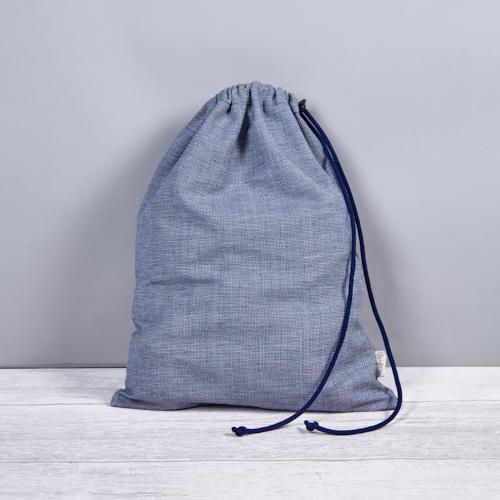 kék fehérnemű zsák