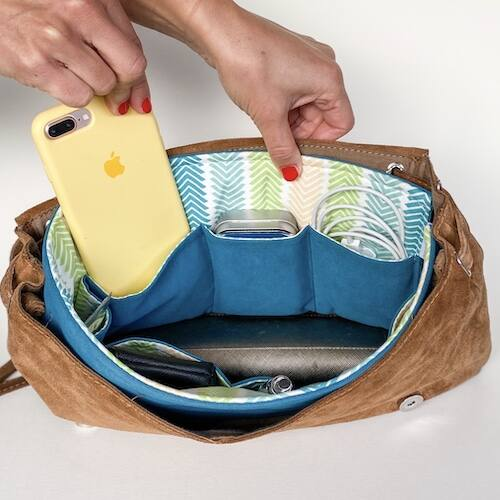 BrightMe textil táskarendező - BLUE CHEVRON