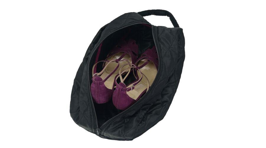 Fekete steppelt cipőtartó táska nőknek bb0b73333d